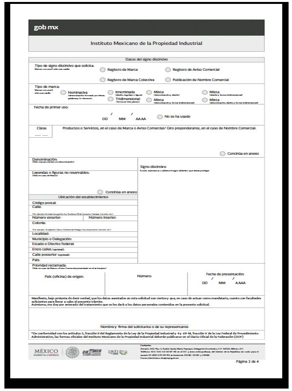 Formato registro marca 2