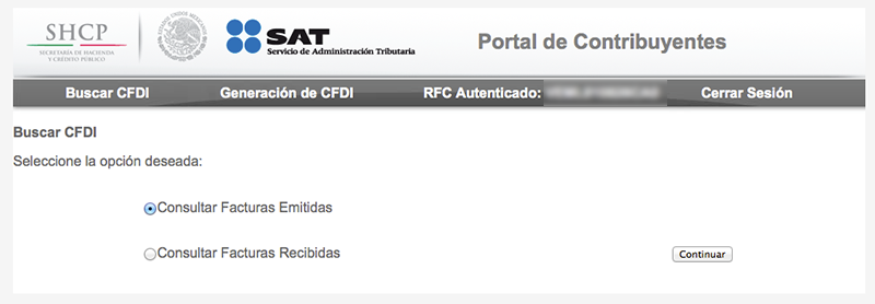 Portal contribuyente